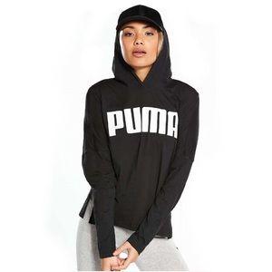 PUMA Urban Light Hooded Cover Up Sports Tee Black
